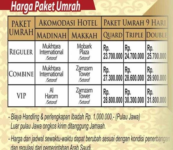 Biaya Umroh Murah Nov – Des 2016 di Jakarta