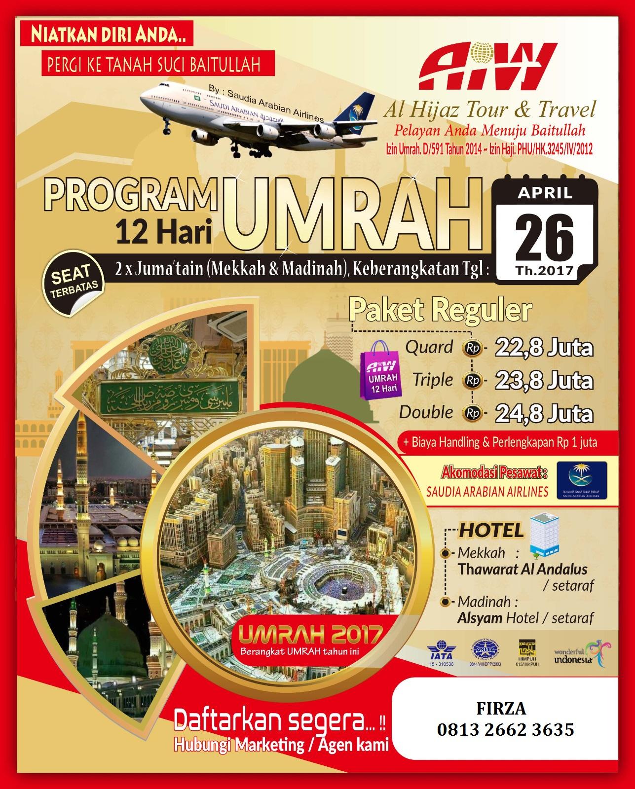 Promo Umroh 12 hari Landing Jeddah