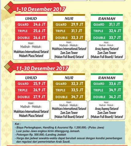 Paket  umroh plus Libur Akhir Tahun Desember 2017