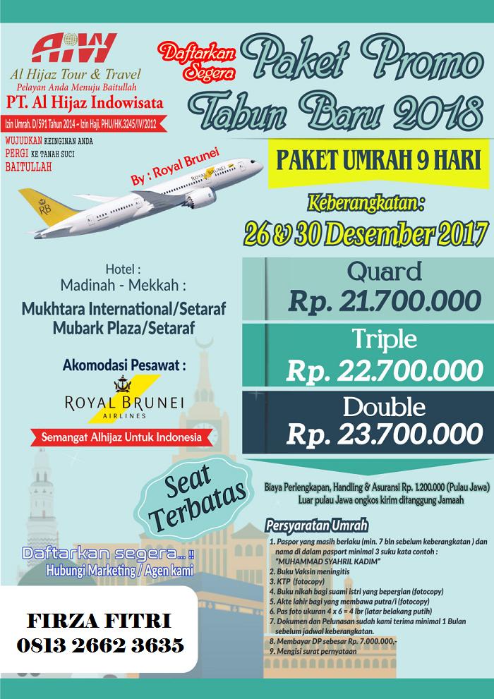 Paket Promo Umrah Akhir Tahun 2017