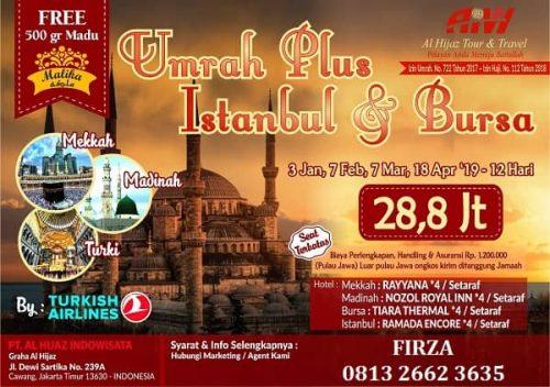 Umroh plus Turki 12 hari