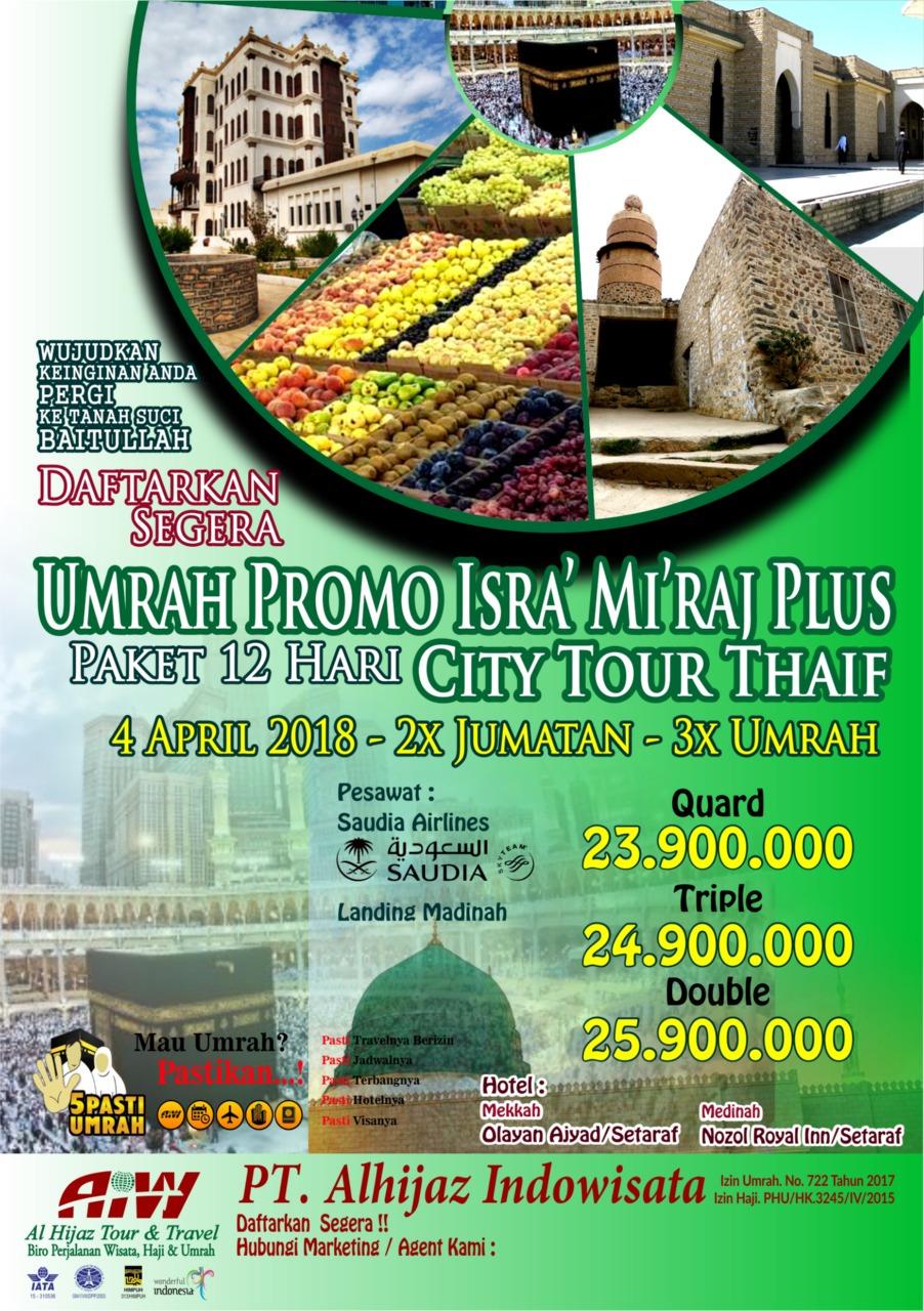 Paket Umroh Plus Thaif 12 hari