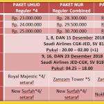 Paket Umroh Awal Desember 2018