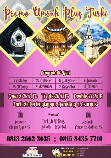 Paket Umroh Plus Citytour Turki 10 hari