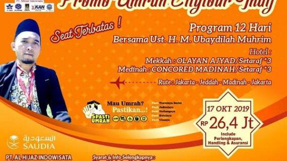 Program Umroh Plus Thaif Paket 13 hari | 0813 2662 3635