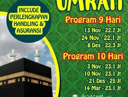 Paket Umroh Promo Rp 20jt by Saudi Airlines