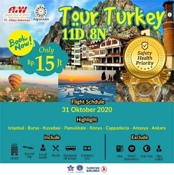Tour Turki 11D8N